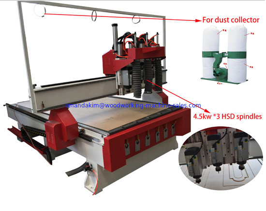 Wooden Cabinet door making CNC Router Machine KC1325A-3S